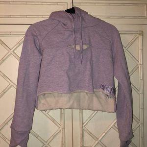 Gymshark Purple Cropped Hoodie